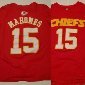 🏈 XS W / 10/12 NFL KANSAS CITY CHIEFS MAHOMES TEE